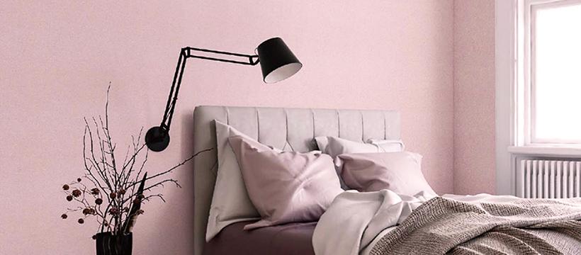 ピンク系壁紙の施工画像