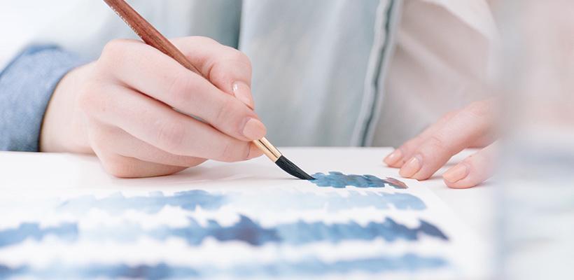 絵手紙を書く