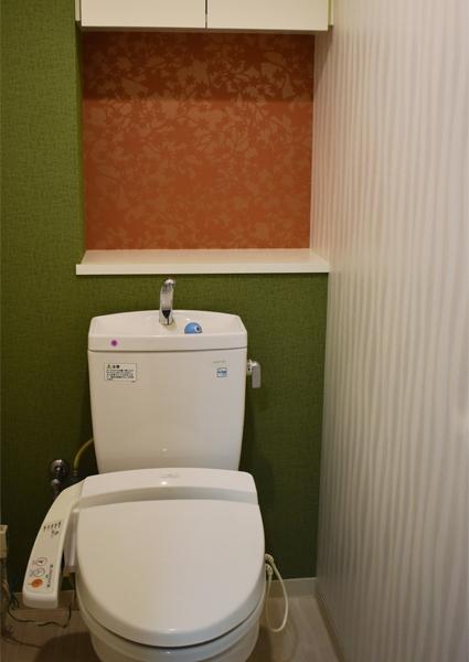 日本庭園をイメージしたトイレのRe壁